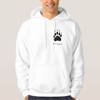"""Bear Supporter"" Grizzly Bear Pawprint Hoodie"