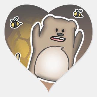 Bear Swag Heart Sticker