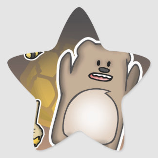 Bear Swag Star Sticker