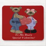 Bear Sweethearts Customizable Mousepad
