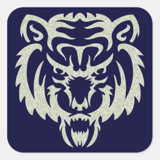 Bear Tattoo Square Sticker