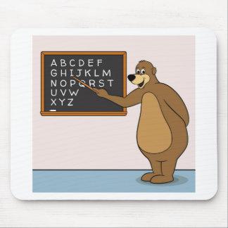 Bear Teacher Alphabet Mouse Pad