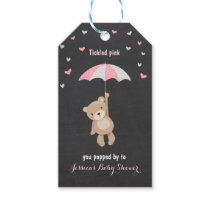 Bear thank you favor gift tag Pink Girl Shower