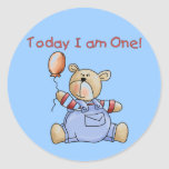 Bear Today I am One Tshirts and Gifts Stickers
