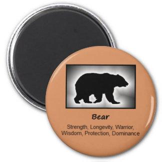 Bear Totem Animal Spirit Meaning 2 Inch Round Magnet