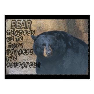BEAR TOTEM TEACHING - TURN INWARDS POSTCARD