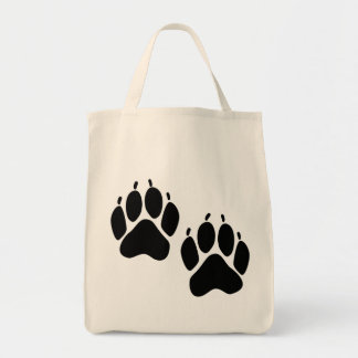 Bear Tracks Organic Tote Bag