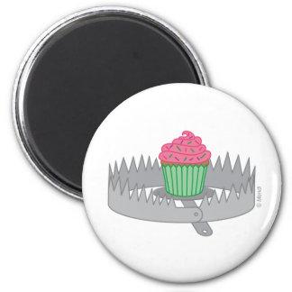 Bear Trap Cupcake 2 Inch Round Magnet