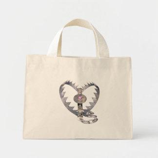 Bear Trap Heart Tote Bags