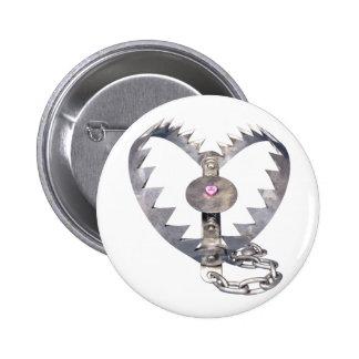 Bear Trap Heart Button