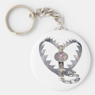 Bear Trap Heart Keychain