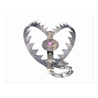 Bear Trap Heart Postcard