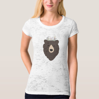 Bear Tshirt with flower crown