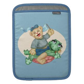 BEAR TURTLE CARTOON iPad Sleeve For iPads