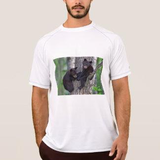 Bear Twins Tree Climbing Branches Cute Animals Art T-Shirt