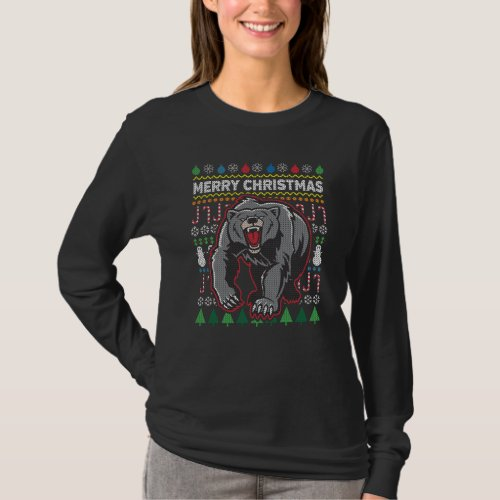 Bear Ugly Christmas Sweater Wildlife Series After Christmas Sales 5225