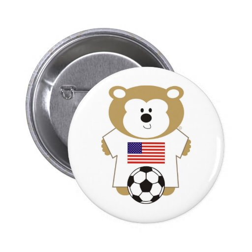 BEAR UNTED STATES PINBACK BUTTONS