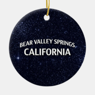 Bear Valley Springs California Double-Sided Ceramic Round Christmas Ornament