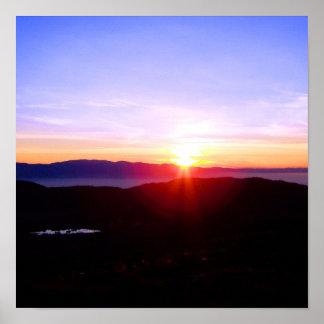 Bear Valley Sunset Poster