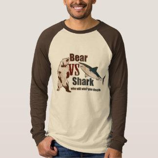 Bear vs. Shark. Who will win? you ... - Customized T-Shirt