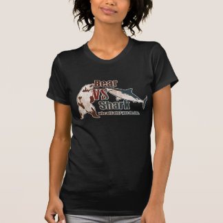 Bear vs. Shark. Who will win? you ... - Customized T Shirt