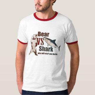 Bear vs. Shark. Who will win? you decide. T-Shirt