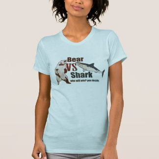 Bear vs. Shark. Who will win? you decide. T-shirts