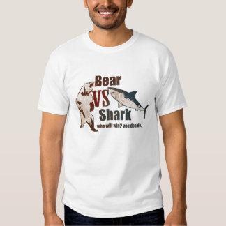 Bear vs. Shark. Who will win? you decide. Tee Shirt