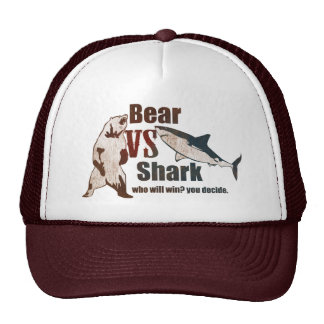 Bear vs. Shark. Who will win? you decide. Trucker Hat