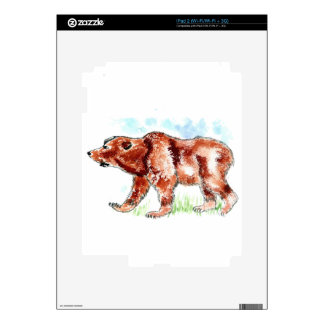 Bear Watercolor Decals For iPad 2