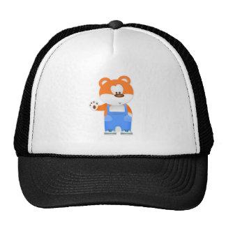 Bear Wearing Overalls Mesh Hats