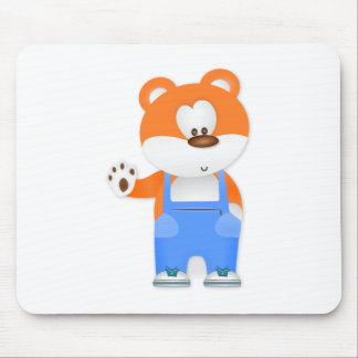 Bear Wearing Overalls Mouse Pad