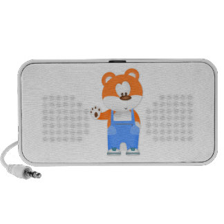 Bear Wearing Overalls iPhone Speaker