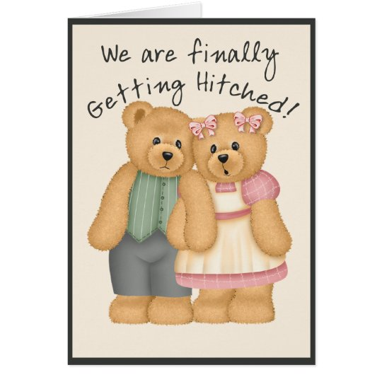 Bear Wedding Card
