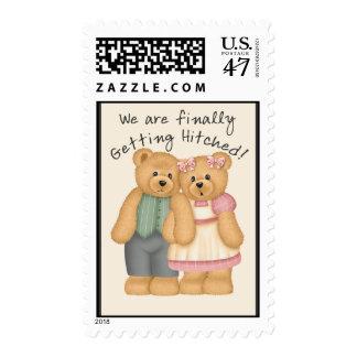 Bear Wedding Postage Stamp