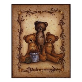 Bear wisdom poster