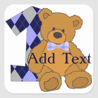 Bear with 1 Cute Stickers