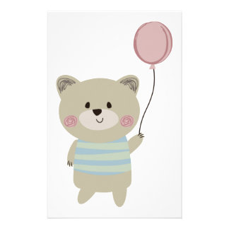 BEAR WITH BALLOON STATIONERY