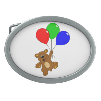 Bear with balloons belt buckle