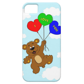Bear with balloons in love cartoon kids iPhone SE/5/5s case