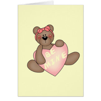 Bear with Be Mine Heart Tshirts and Gifts Cards