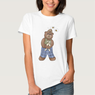 Bear with Bee Hat and Holding Bunny Shirt