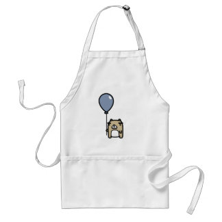 Bear With Blue Balloon Adult Apron