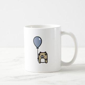 Bear With Blue Balloon Classic White Coffee Mug