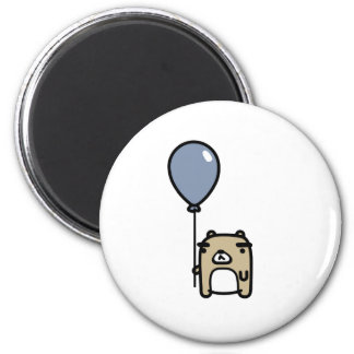 Bear With Blue Balloon Magnet