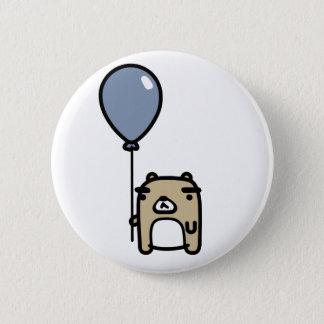 Bear With Blue Balloon Pinback Button