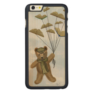 Bear with Book Butterflies 2 Carved Maple iPhone 6 Plus Case