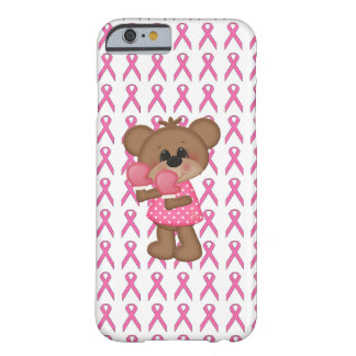 Bear With Boxing Gloves Pink Ribbon iPhone 6 Case