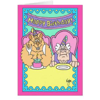 BEAR WITH CAKE Birthday Card