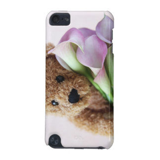 bear with calla lilies ipod touch case